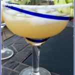 Jalapeno cucumber Margarits in a glass