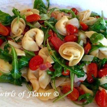 tortellini with tomatoes and pancetta
