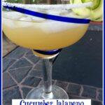 Cucumber Jalapeno Margarita in a glass