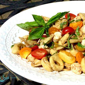 pasta salad with fresh basil