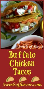 Fill a taco with saucy spicy buffalo chicken topped with celery, carrots, tomatoes and creamy Roquefort blue cheese and combine two favorite foods! Tacos and buffalo chicken merge together for Buffalo Chicken Tacos! tacos | buffalo chicken | chicken | Taco Tuesday