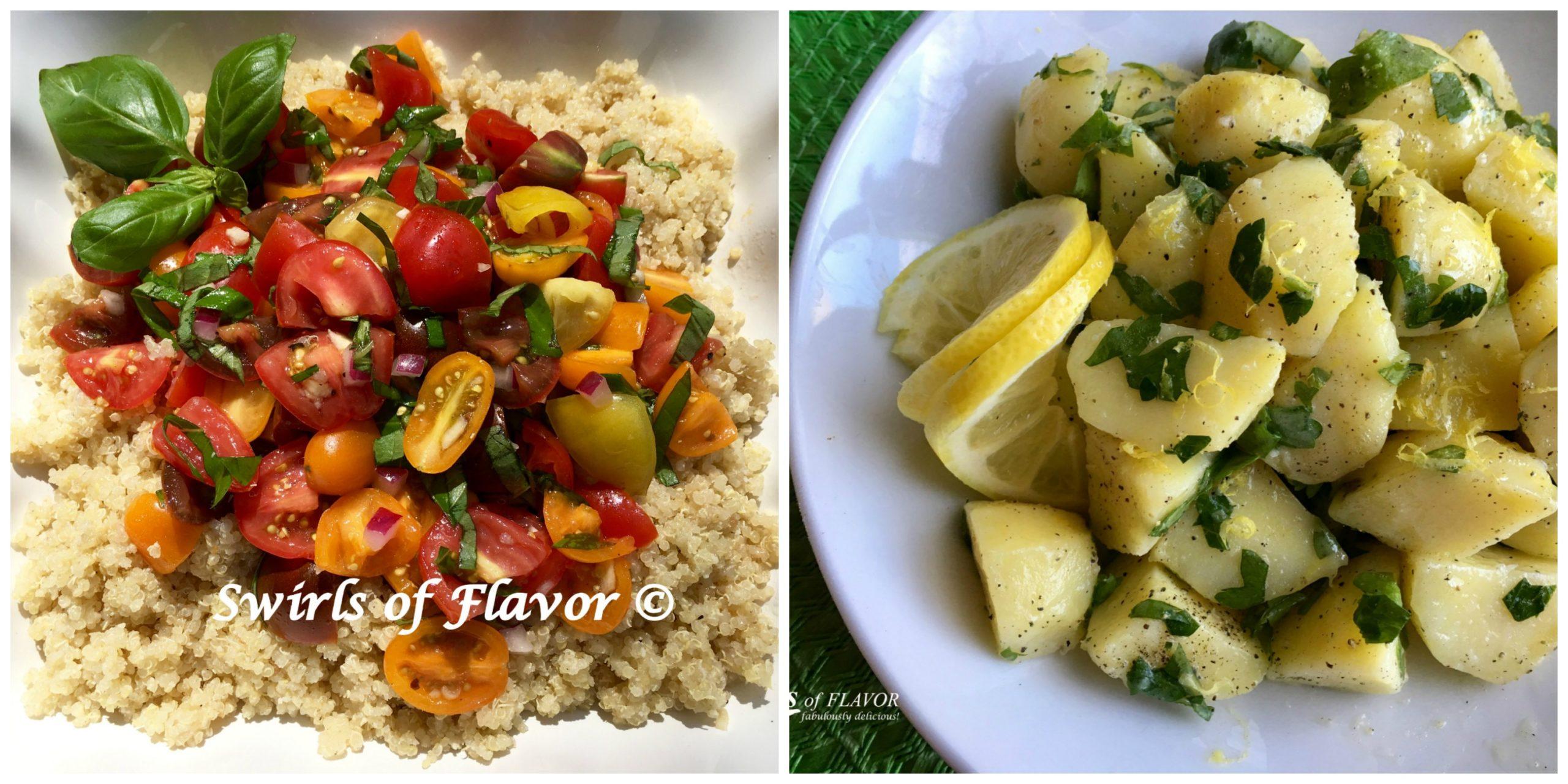 tomato Quinoa and lemon Potatoes