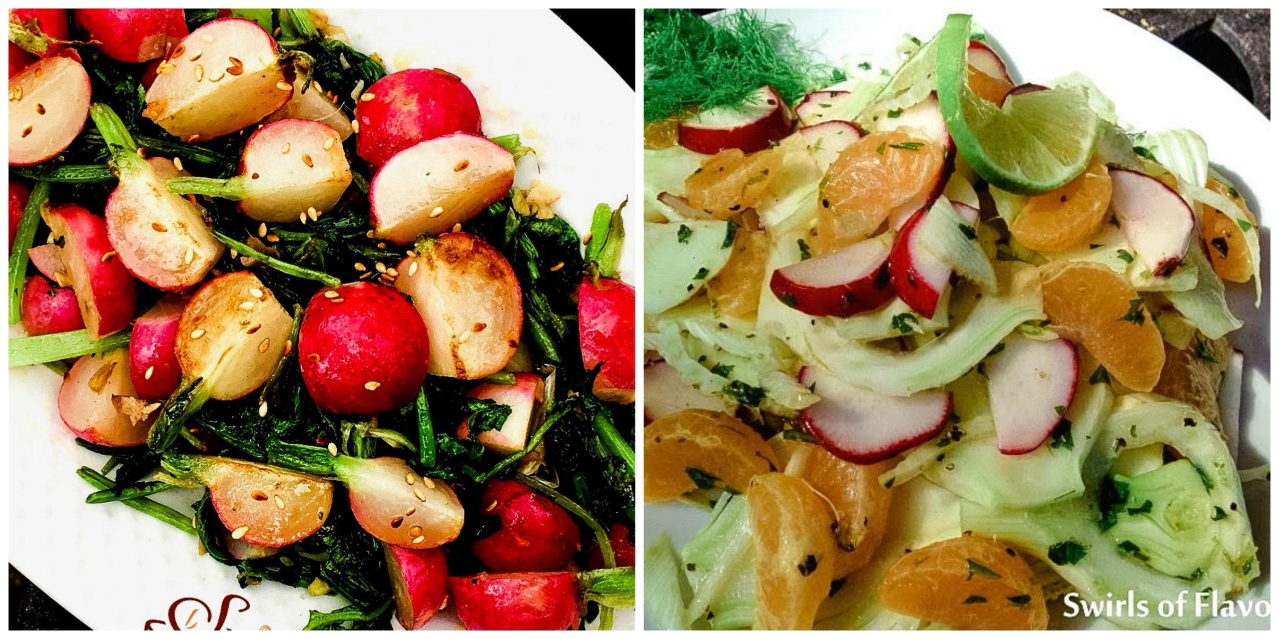 Sauteed Radishes and Mandarin Fennel Salad