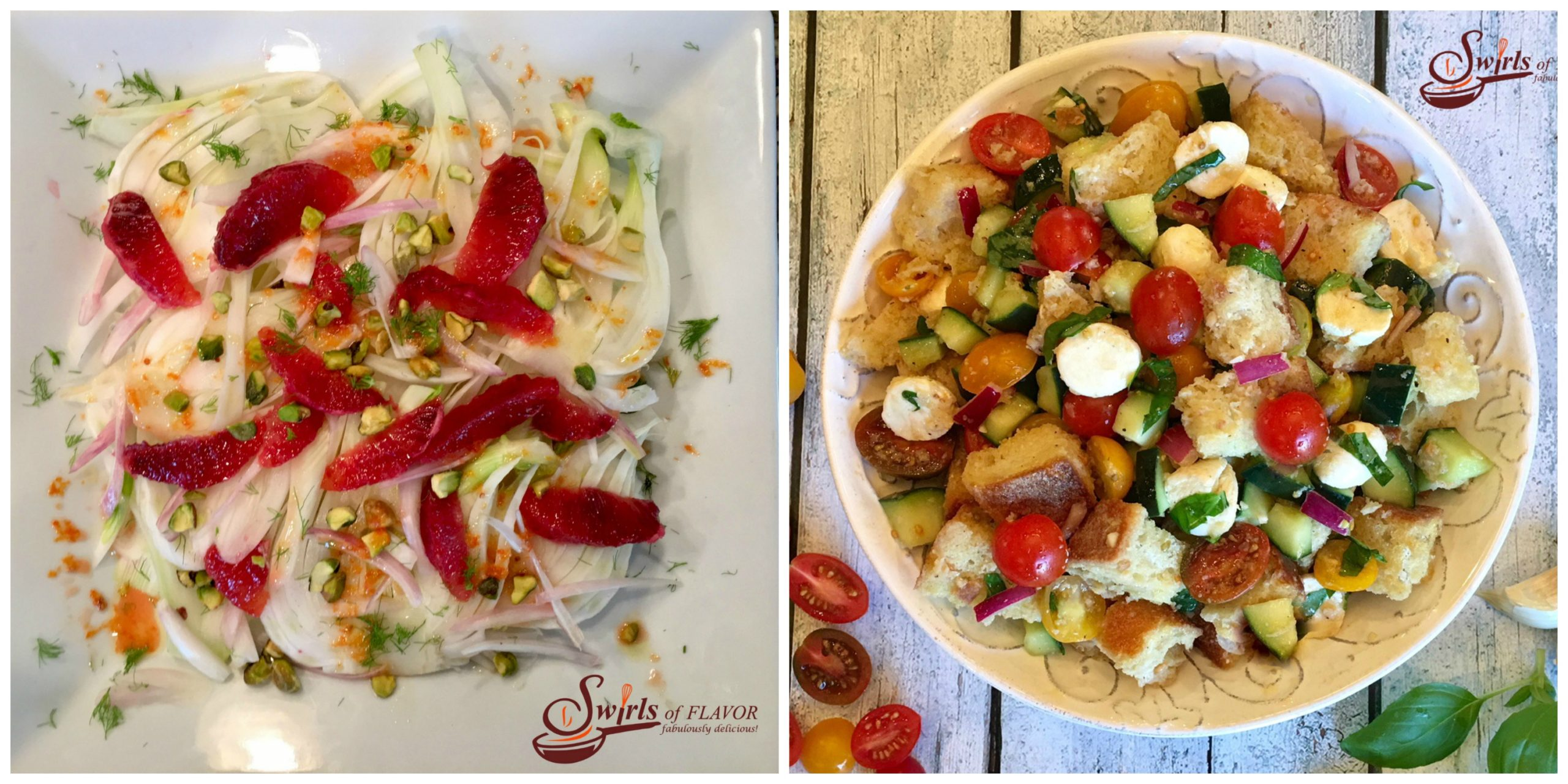 Fennel and Blood Orange Salad and Panzanella