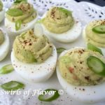 Guacamole Deviled Eggs are filled with creamy avocado deliciousness! Deviled eggs take on a southwestern flavor in this twist on the traditional classic spring time recipe. With just 5 ingredients, deviled eggs just rose to a new level of deliciousness and easiness!