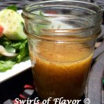 Honey Mustard Salad Dressing is an easy to make homemade vinaigrette with just a few simple ingredients, honey, mustard, olive oil, apple cider vinegar, garlic and salt! This easy recipe is not just for salad but as a dipping sauce for vegetables, a marinade for chicken or fish or even as a dressing for your favorite pasta salad. #easyrecipe #homemadevinaigrette #homemadesaladdressing #saladressing #honeymustard #dijonmustard #marinade #dippingsauce #swirlsofflavor