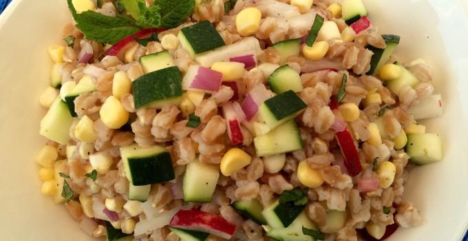 Zucchini & Corn Farro Salad