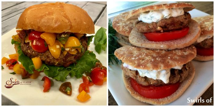 Bruschetta Burgers and Turkey Burgers