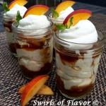 Bourbon Peach Cheesecake Mousse In A Jar