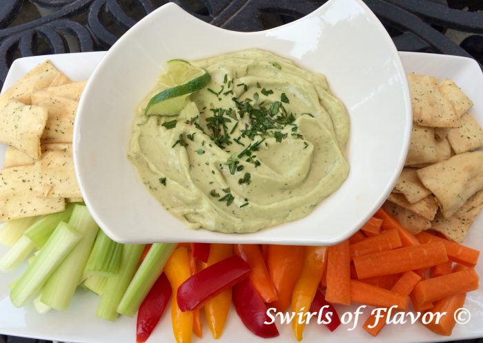 Creamy Avocado Herb Dip