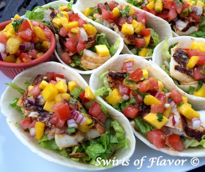 Fish Tacos With Mango Pico De Gallo