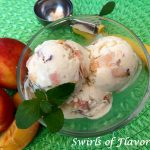 Peaches 'N Cream Ice Cream combines chunks of fresh peaches, cream and vanilla and transforms into a creamy decadence that is to die for! peaches | cream | no churn ice cream