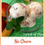 Peaches 'N Cream Ice Cream is an easy 4 ingredient recipe for no churn ice cream made with fresh juicy peaches and a hint of vanilla.