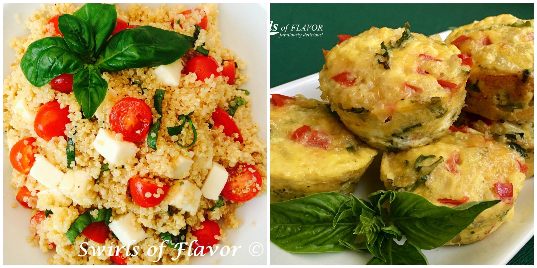 Caprese Quinoa and Egg Quinoa Muffins