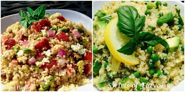 Strawberry Quinoa and Lemon Basil Avocado Quinoa