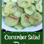 sliced cucumbers with red onion