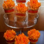 Olympic Torch Brownie Cones