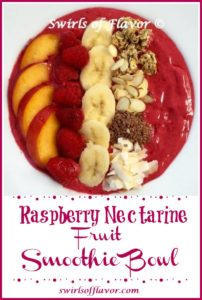 Raspberry Netarine Smoothie Bowl
