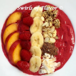 Raspberry Nectarine Smoothie Bowl