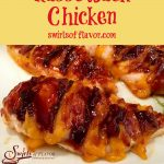 cheddar bacon chicken with text overlay