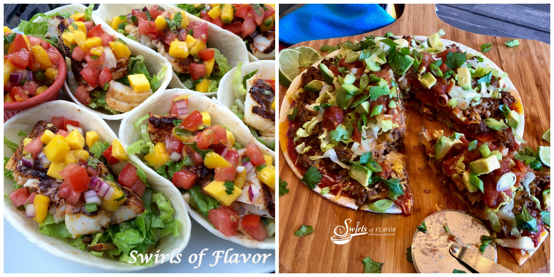 Fish Tacos and Taco Pizza