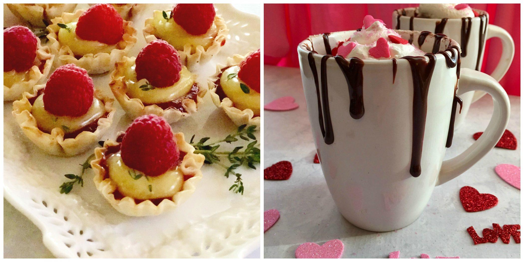 Raspberry Lemon Thyme Tartlets and Hot Chocolate Mug Cake