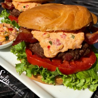 Pimento Cheese Bacon Burgers
