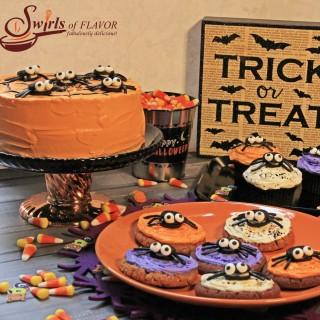 No-Bake Spooky Spider Cookies