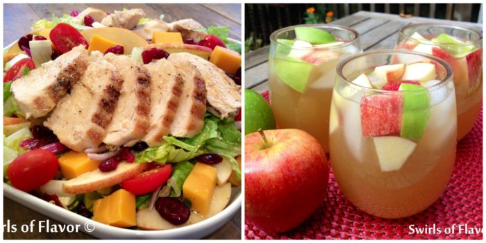 Apple Cheddar Salad and Apple Cider Sangria