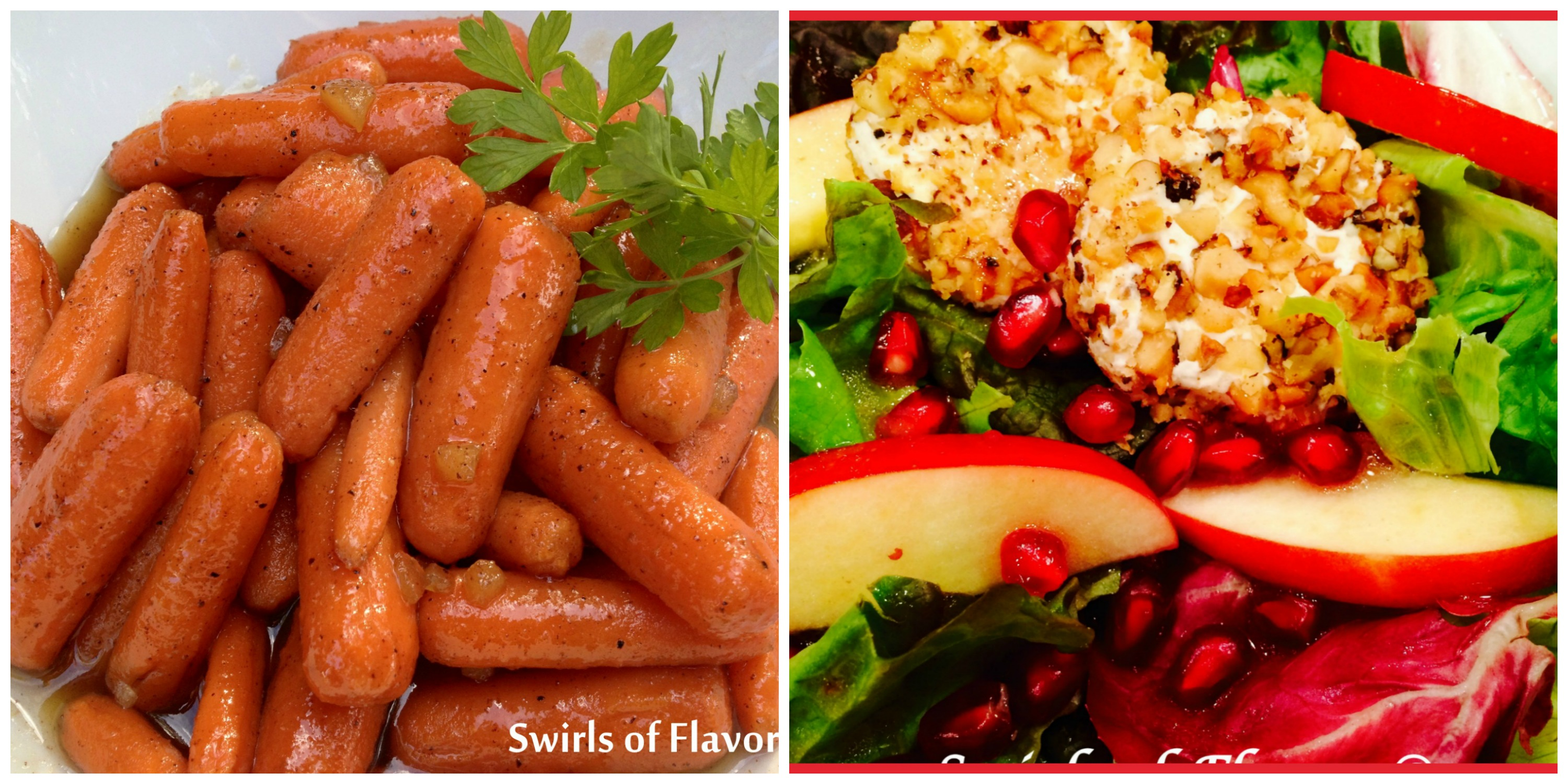Honey Carrots and Pomegranate Apple Salad