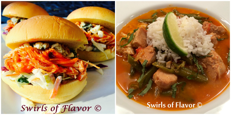 Buffalo chicken and Thai chicken