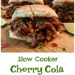 Slow Cooker Cherry Cola Garlic Chicken is an easy slow cooker chicken recipe that makes it's own sweet and spicy sauce with brown sugar and cola soda.