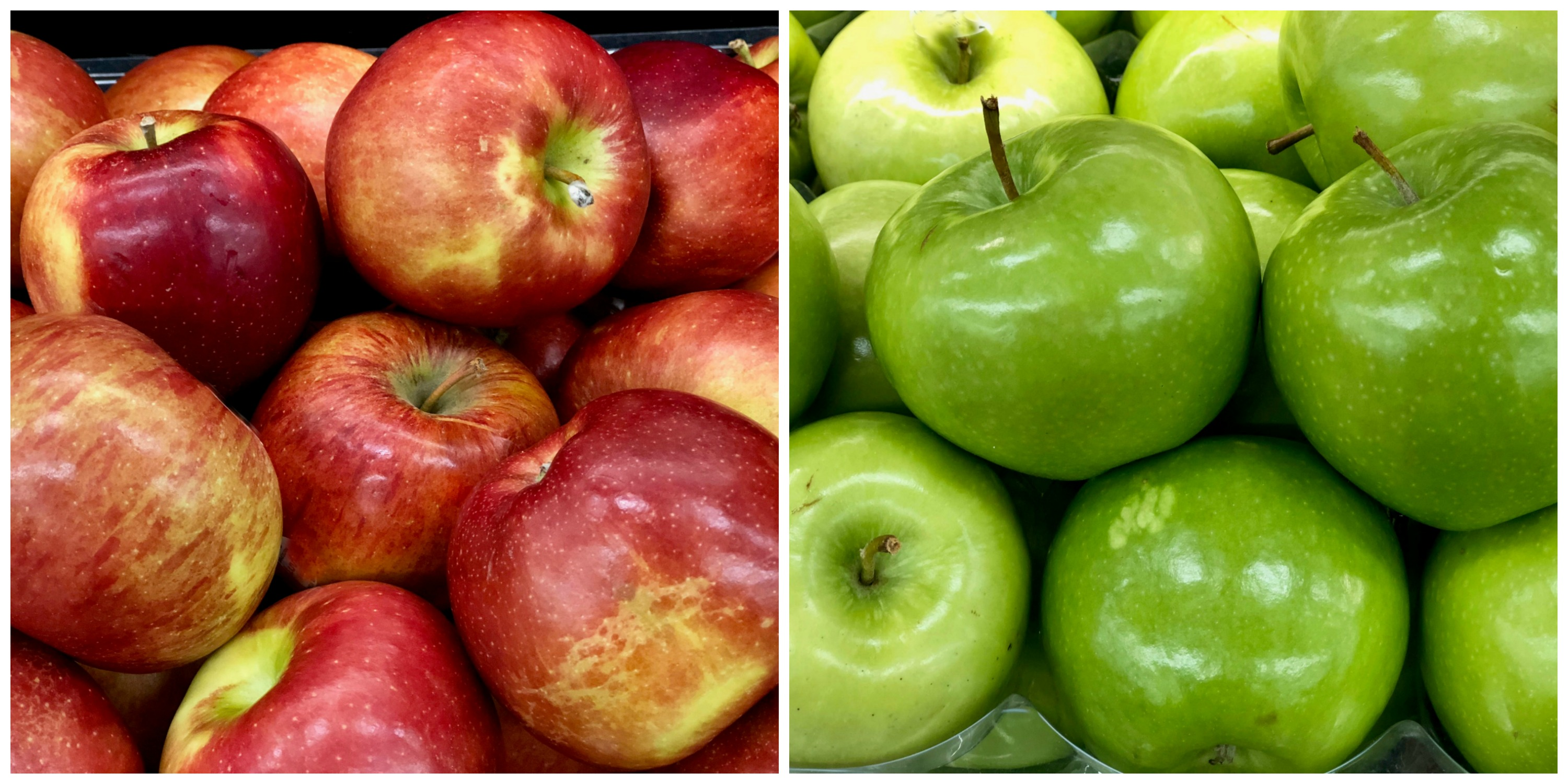 rred and green apples