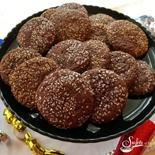Silver & Gold Chocolate Glitter Cookies