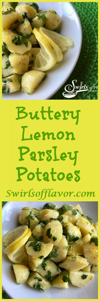 The creaminess of a Buttercream potato combines with real butter, fresh parsley and lemon for a burst of flavor and textures that will wow your taste buds! the perfect side dish for entertaining or every day meals!
