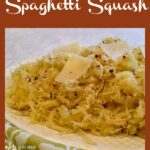 Spaghetti squash with cheese and pepper