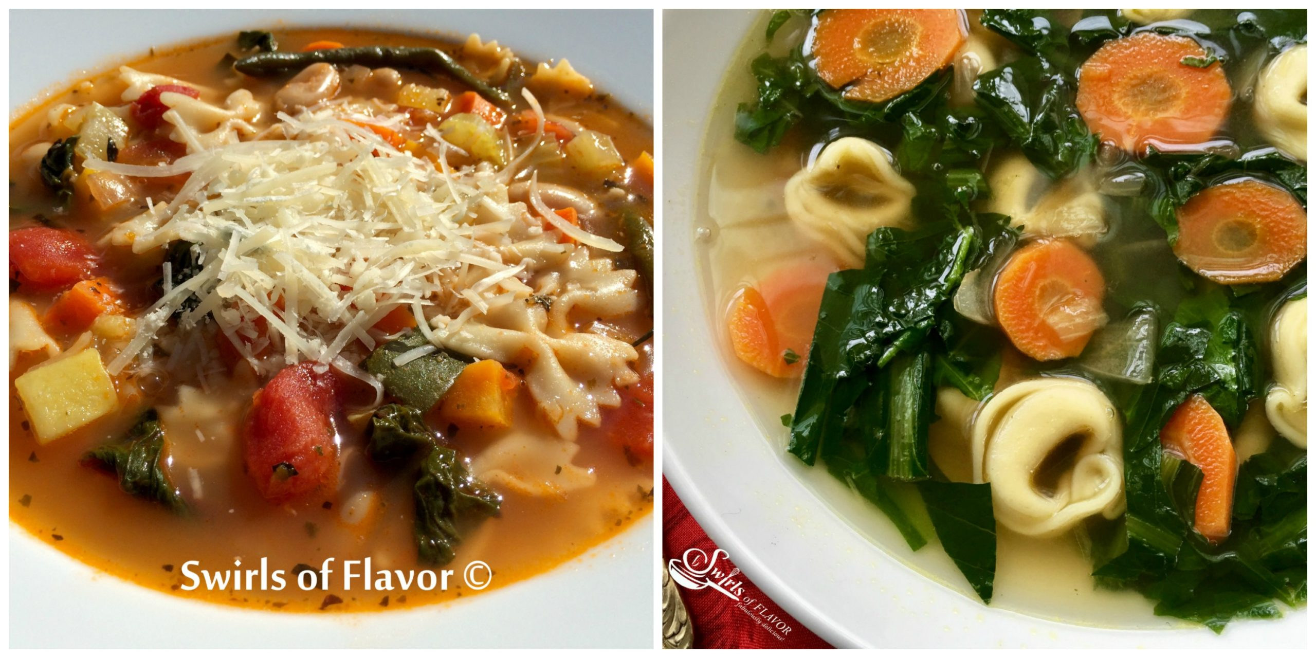 Pesto Minestrone Sup and Dandelion Soup