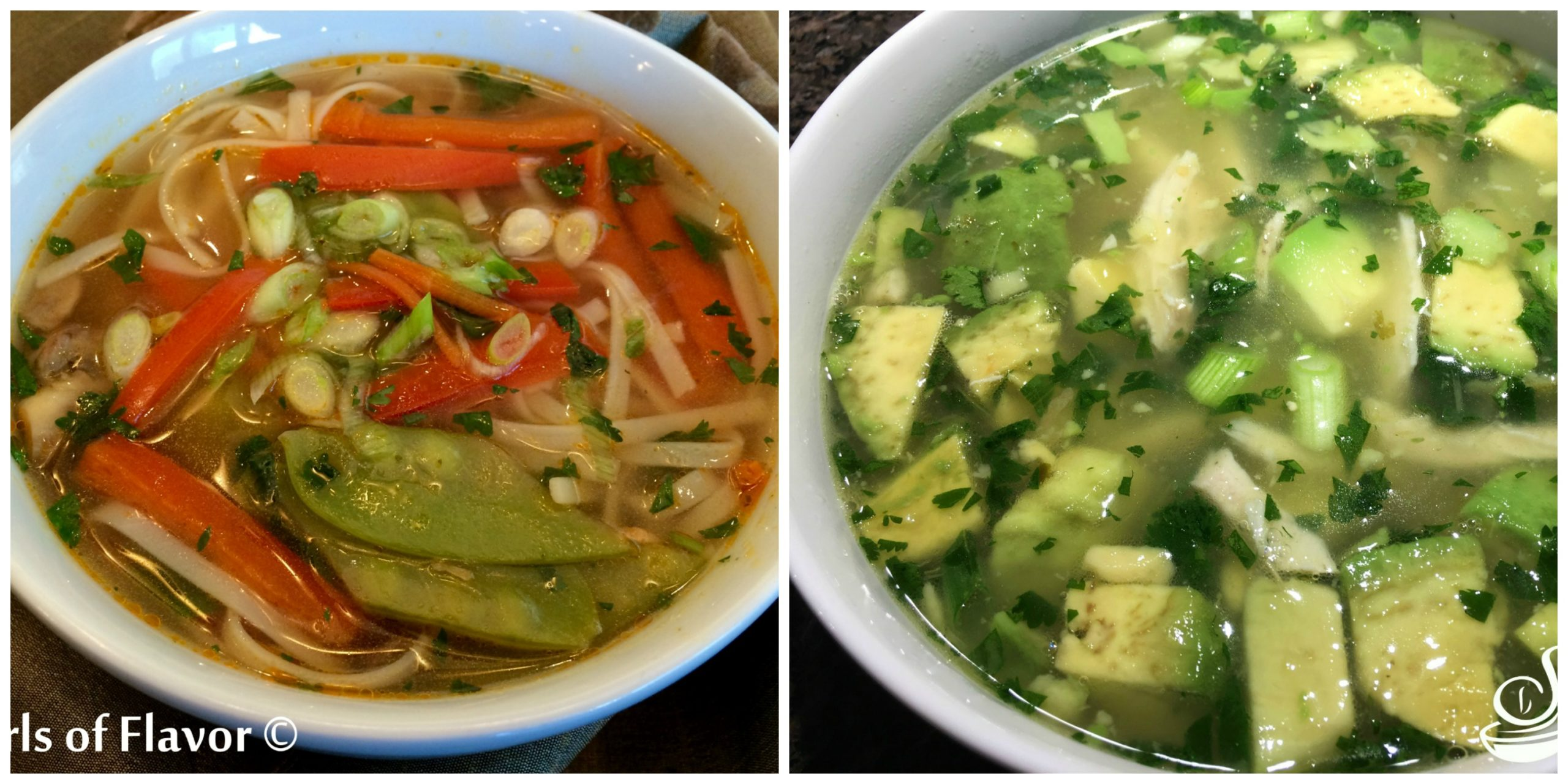 Thai Vegetable Soup and Avocado Lime Chicken Soup