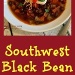 Filled with protein-packed black beans, fresh vegetables,a combination of southwest spicesand topped off with seasoned diced tomatoes and green chilies, this Black Bean Soup is pure heaven!Soup   black beans   southwest   black bean soup   dinner