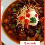 Homemade Black Bean Soup