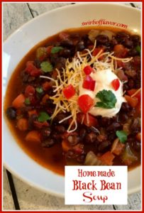 Homemade Black Bean Soup