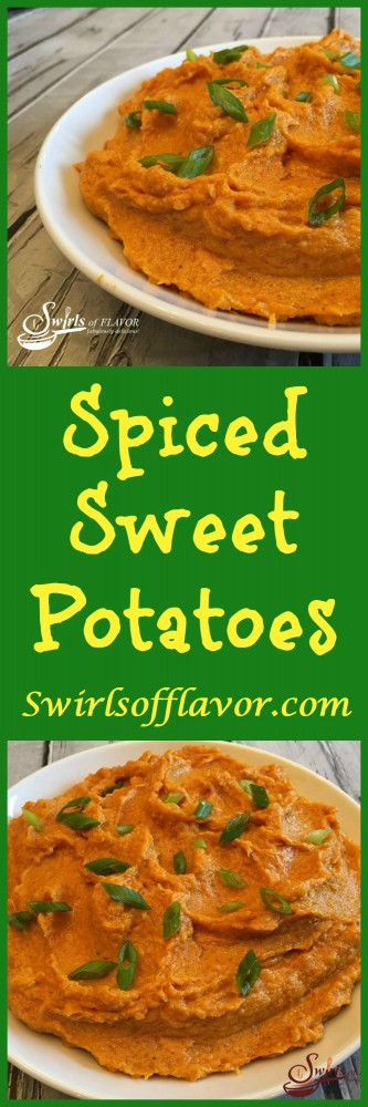 Spiced Sweet Potatoes are decadent and creamy with a hint ofspice. The perfect side dish for any meal!