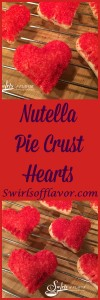 Nutella, the beloved creamy decadent chocolate hazelnut spread, is nestled in the center of a bite size sugared heart and baked to perfection in Nutella Pie Crus Hearts. Valentine's Day | Dessert | Nutella | Hearts |Pie Crust