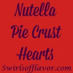 Nutella,the beloved creamy decadentchocolate hazelnut spread, is nestled in the center of a bite size sugared heart and baked to perfection in Nutella Pie Crus Hearts. Valentine's Day | Dessert | Nutella | Hearts |Pie Crust