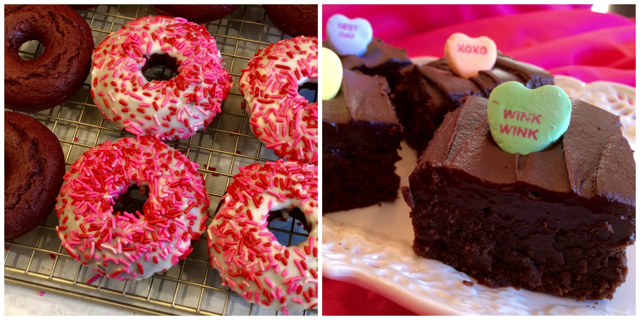 Red Velvet Donuts and Espresso Kahlua Brownies
