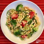 Zucchini Noodles & Broccoli With Peanut Sauce