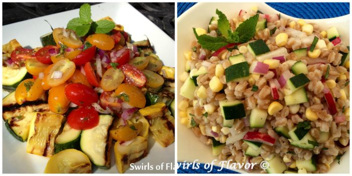 Zucchini Medley and Zucchini Farro Salad