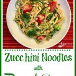 Zucchini Noodles with Peanut Saue