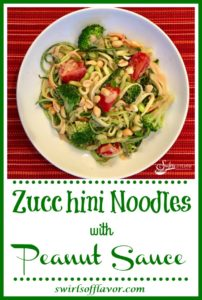 Zucchini Noodles with Peanut Saue