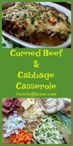 Cabbage, carrots and sweet onions sauteed in a Guinness reduction are layered with cheddar & potato filled mini piergoies, corned beef and aged Irish cheddar cheese for a mouthwatering casserole guaranteed to pleaseyour favoriteIrishman! corned beef | corned beef and cabbage | cabbage | casserole | St. Patrick's Day | pierogies | pierogy | cheese